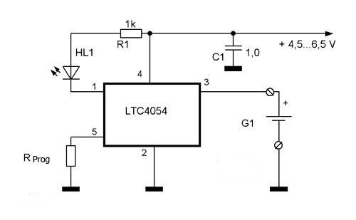 Зарядное схема ltc4054